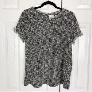 New Everleigh Heathered Fringe Sweater Tee